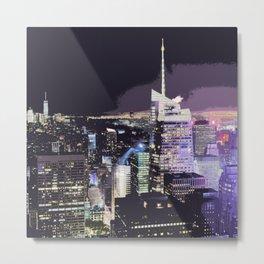 night city photographi Metal Print