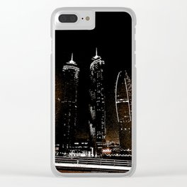 Dubai by night 7 Clear iPhone Case