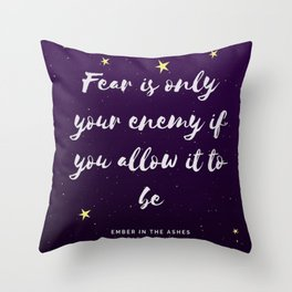 Ember in the Ashes Quote Throw Pillow