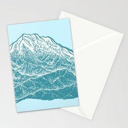 Distant Snow- 遠雪 : linocut Stationery Cards