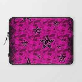 Pink Toxic Stars Laptop Sleeve