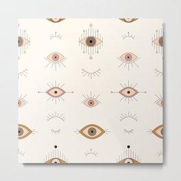Magic Evil Eye Pattern Metal Print