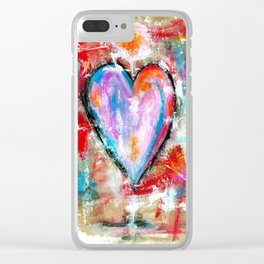 Reckless Heart, Abstract Art Painting Clear iPhone Case