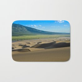 Great Sand Dunes against mountains Bath Mat