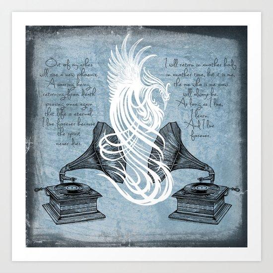 The Phoenix Rises Art Print