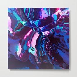Neon River reflection Metal Print