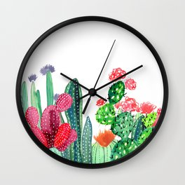 A Prickly Bunch 4 Wall Clock