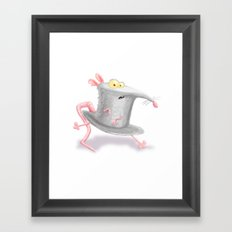 Hat in a Rat Framed Art Print