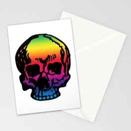 Pirate Skull Color Spectrum, Vibrant Skull, Rainbow Gradient, Super Smooth Super Sharp 9000px x 11250px PNG Stationery Cards