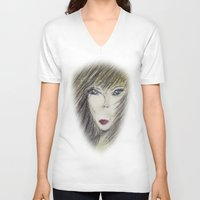 alien V-neck T-shirts featuring Alien by Laake-Photos