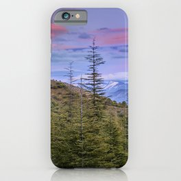 "Lenticular clouds over the mountains ""Mountain light"". iPhone Case"