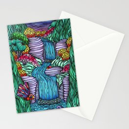 Falling Water Stationery Cards