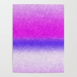 Abstract lilac blue pink geometrical ombre Poster