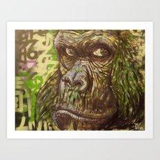 Gorilla Funk (Living on the Edged Pt. II) Art Print