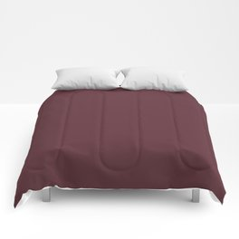 "Marsala burgundy ""Tawny Port"" pantone color Comforters"