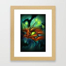 Orange Neon Framed Art Print