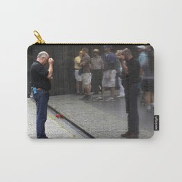 Remembrance at Vietnam Wall Carry-All Pouch