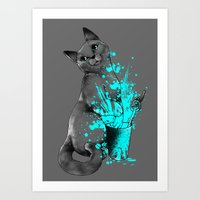 russian Art Prints featuring Russian Blue by Anwar Rafiee
