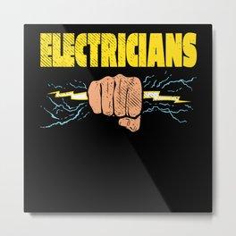 Electrician Electronics Electricity Metal Print