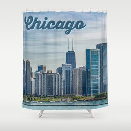 Chicago - The Windy City Shower Curtain