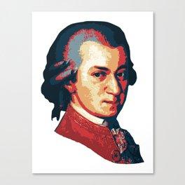 Mozart Minimalistic Pop Art Canvas Print