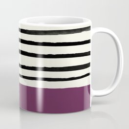 Plum x Stripes Coffee Mug