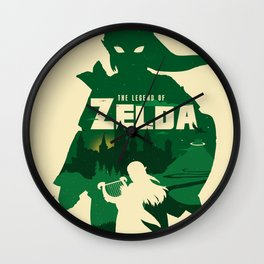 The legend of Zelda minimalist art Wall Clock