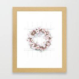 Spring Wreath Framed Art Print