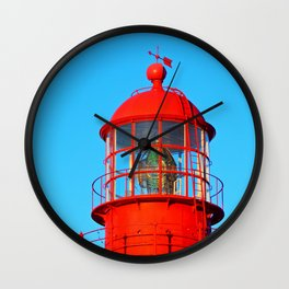 Red Lighthouse Top Wall Clock