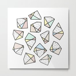 Polygonal stones and gemstones Metal Print