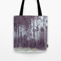 forrest gump Tote Bags featuring Forrest by Anthony Londer