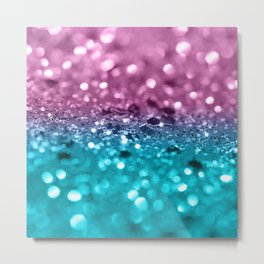 Tropical Beach Lady Glitter #7 #shiny #decor #art #society6 Metal Print