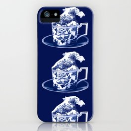 TEMPEST IN A TEACUP, HOKUSAI STYLE iPhone Case