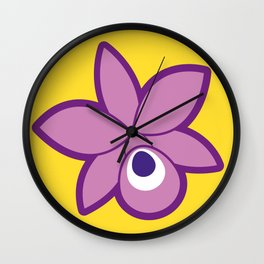 Guaria Morada Wall Clock