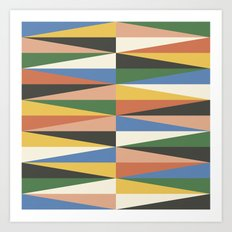 Triangle Waves Art Print