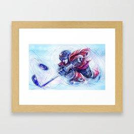 Hockey Bot Framed Art Print