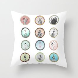 The 12 Signs of the Zodiac Throw Pillow