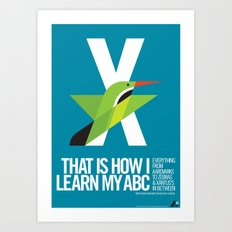 Animal Alphabet X Art Print