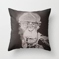 The Coffee Shop Philosopher  Throw Pillow