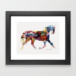Horse (Freedom of skin) Framed Art Print