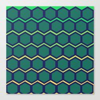hexagon Canvas Prints featuring hexagon by myepicass