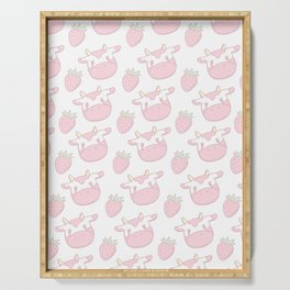 Strawberry Cow Serving Tray