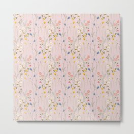 Dreamy Floral Pattern Metal Print