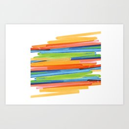 Color yellow red blue green Art Print