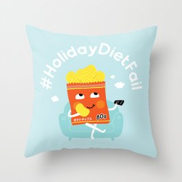 Holiday Diet Fail Throw Pillow