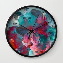 """Spring Butterfly love"" Wall Clock"