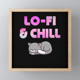 Lo-fi And Chill Cat Framed Mini Art Print