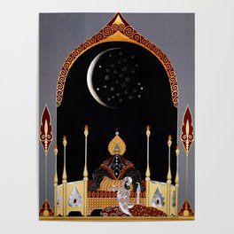 """Art Deco Exotic Design """"In the Casbah"""" Poster"""