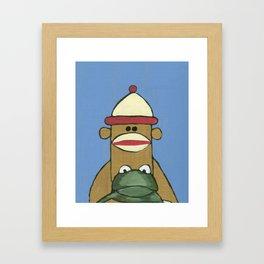 Sock Monkey 81 Framed Art Print