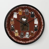 nori Wall Clocks featuring Dwarpacas(Nori) by Lady Cibia